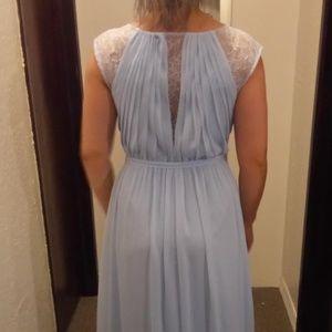 Chiffon Bridesmaid Dress with Chantilly Lace Inset